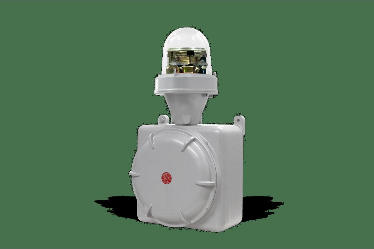 Lampada Antideflagrante Segnalazione Ostacoli al Volo MIOLAB-E1_23S: Duale, Media Intensità Type A / Type B