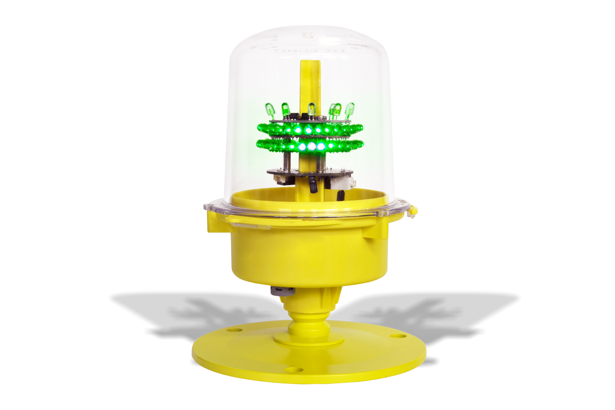 Heliport light SEGS24HG30: Single, TLOF - Touchdown and lift-off area lighting system. Elevated light; Green Steady.