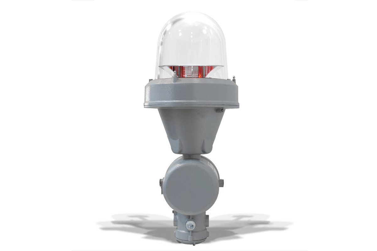 SEGSxxP2K_EX - Aircraft Warning Light for Explosion Proof MIOLB-E1_xxS: Single, Medium Intensity Type B